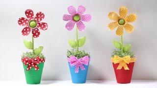 Flores Hechas con botella de Plástico