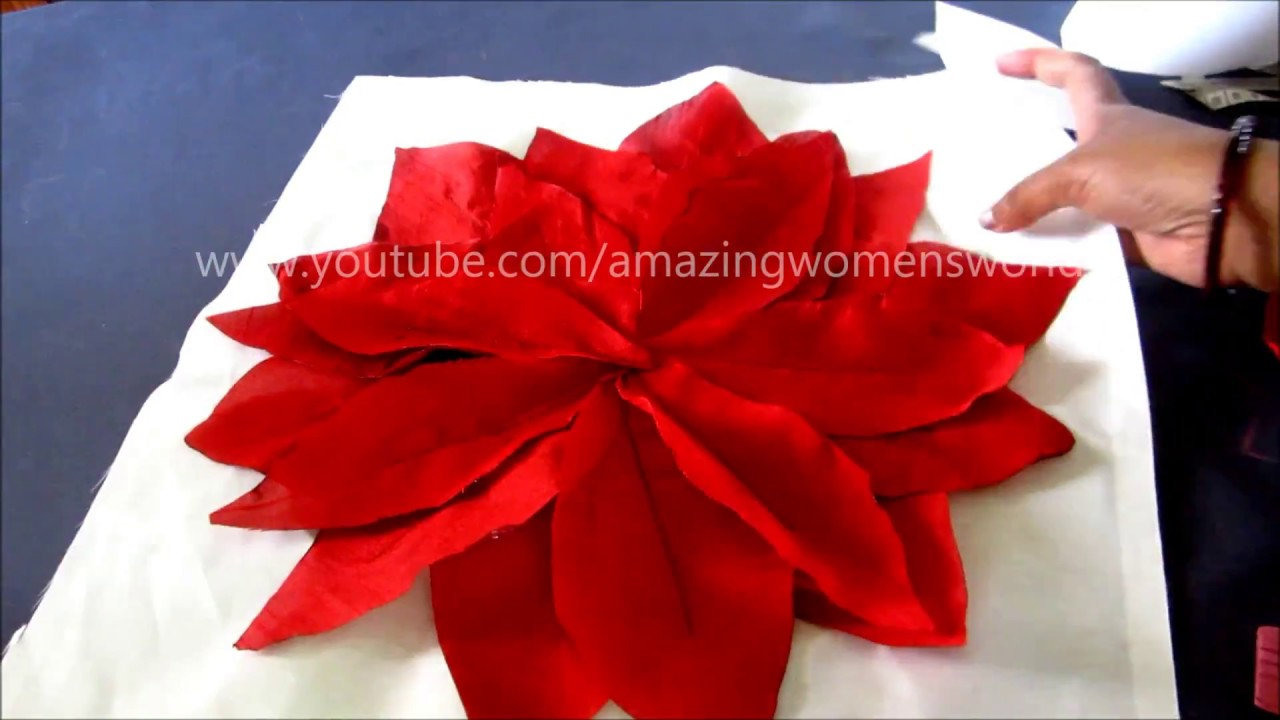 Beautiful Flower Cushion Cover Cutting And Stitching