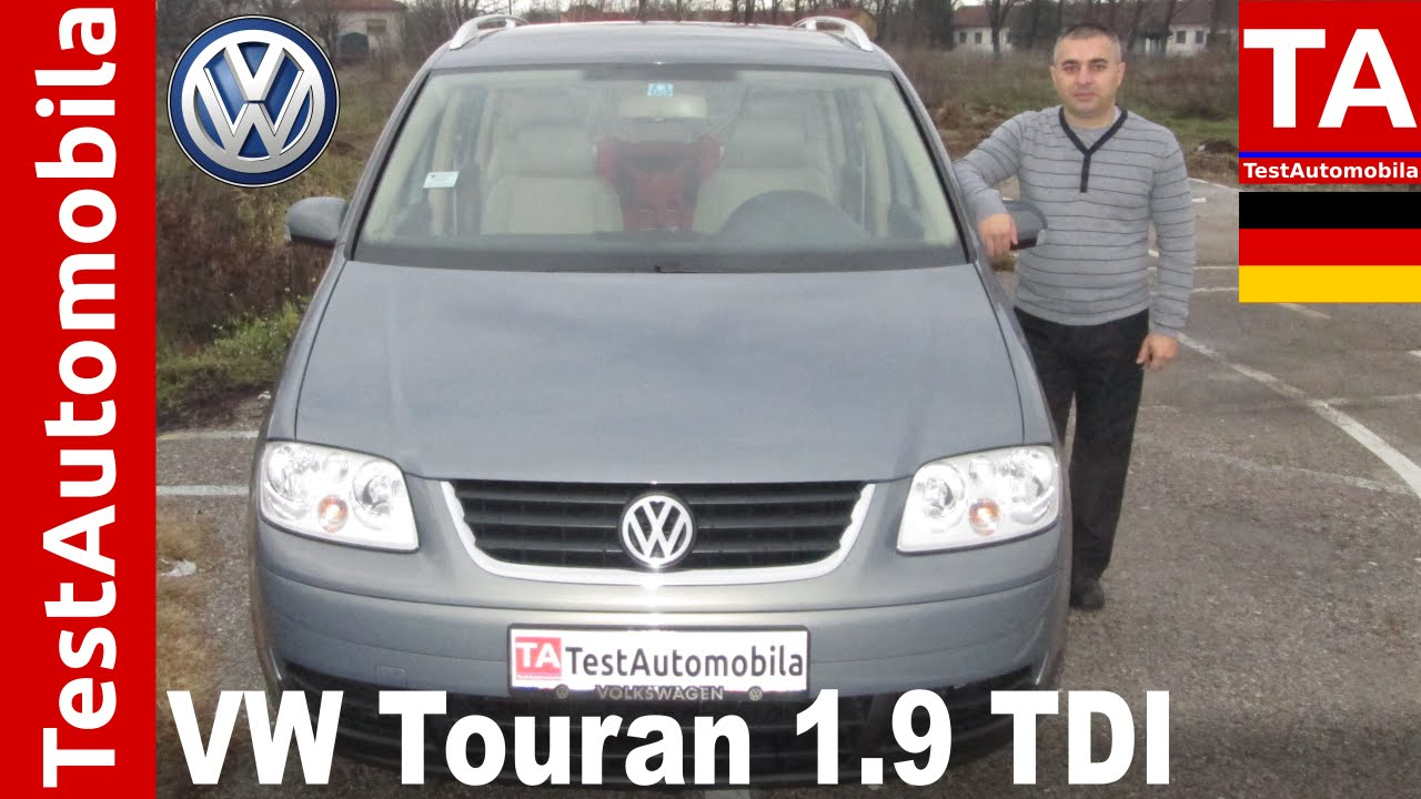 vw touran 1 9 tdi 2004 test youtube. Black Bedroom Furniture Sets. Home Design Ideas