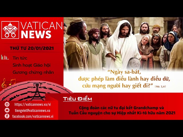 Radio: Vatican News Tiếng Việt thứ Tư 20.01.2020