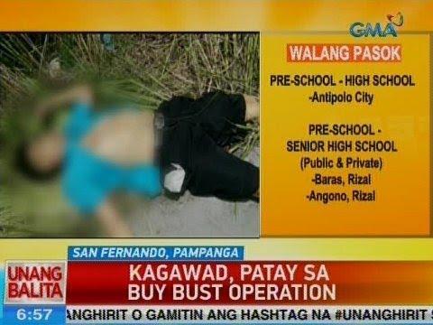 UB: Kagawad, patay sa buy bust operation sa San Fernando, Pampanga