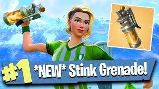 NEW Stink Grenade Gameplay - Fortnite Battle Royale