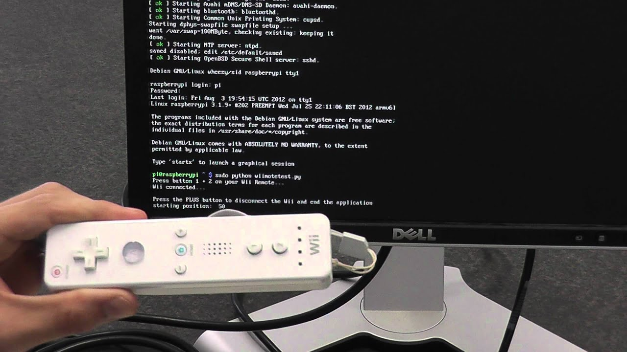 Wii Controller + Raspberry Pi + Python = Awesome!! #piday