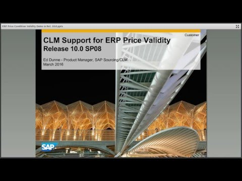 SAP Sourcing CLM - Multiple Price Validity Dates