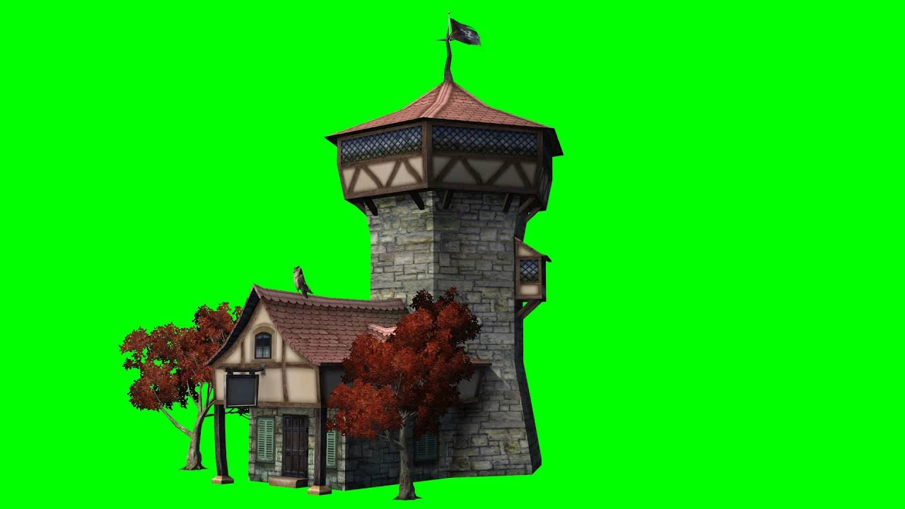 Wizard Tower House Green Screen 2 Free Green Screen