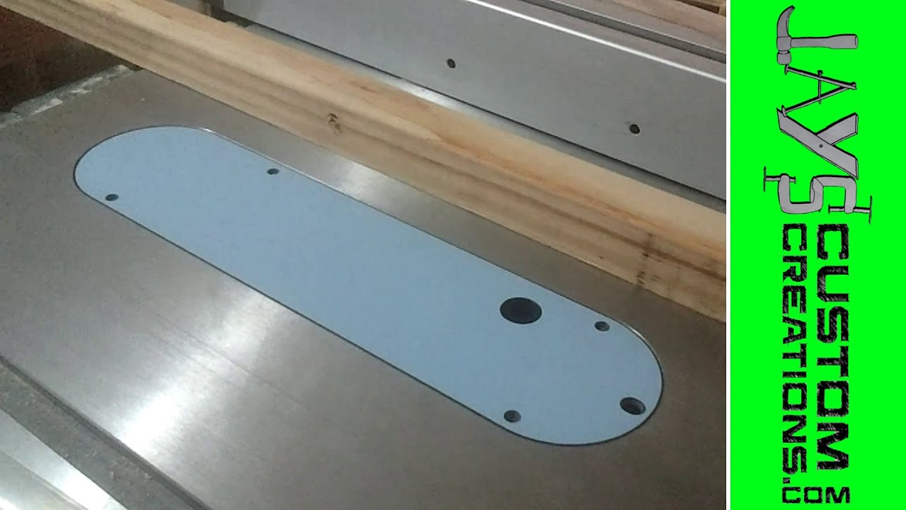 Leecraft Ht 1 Insert For Pcb270ts Table Saw 027 Youtube