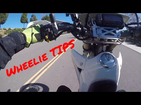 How to Wheelie a DRZ400sm for Beginners