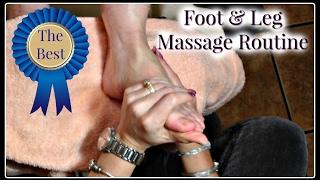 👣 Pedicure Massage Tutorial Best Foot and Leg Massage Routine 👣