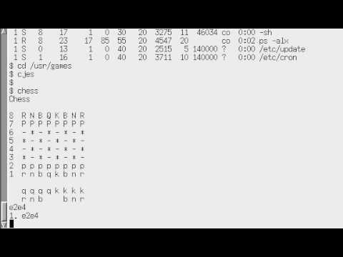 Unix version 7 Running on PDP-11/45 via simh