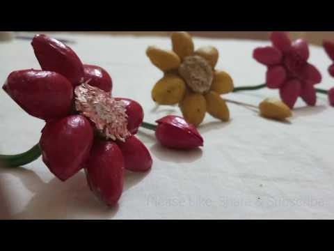 DIY Pista Flowers | Recycling craft Ideas | Pista shell craft