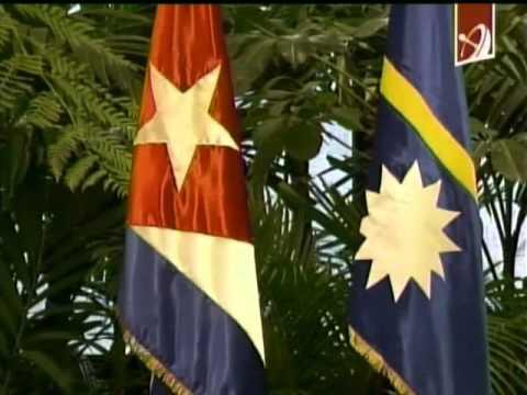 Recibe Raúl Castro al presidente de Nauru