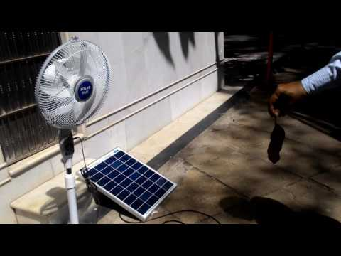 Belifal Solar Pedestal DC 12V Fans Using Direct Solar Panel Bengali Version