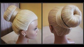 Объемный Пучок.Легкий вариант сделать пучок самой себе.Quick hairstyle. Easy to do by yourself.
