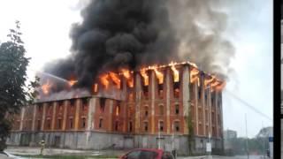 Požar v Celju - Rakušev mlin Celje - 6. oktober 2014