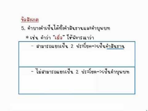 ภาษาไทย ติว ม.3 สอบเข้า ม.4 คำสันธาน โดย อ.ณภัชชา