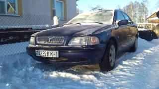 Холодный старт VOLVO S40 1.9 TDI в мороз  -19°C