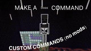 How To Make Custom Commands (NO MODS)