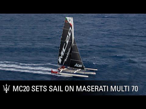 MC20: the new super sports car name sets sail on Maserati Multi 70