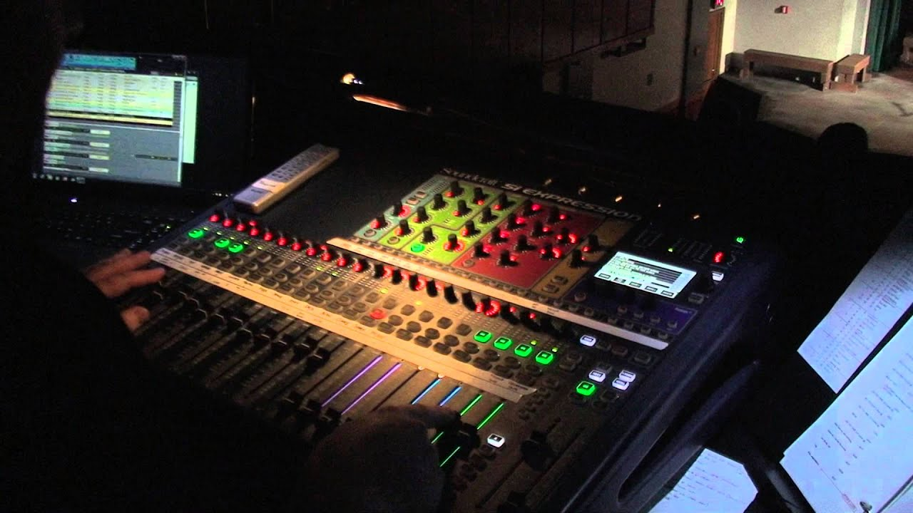 Soundcraft Expression cue list and MIDI program change control of Show Cue  System