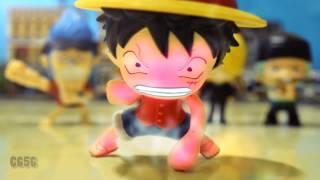 one piece vs dragon ball stop motion luffy vs cell 魯夫vs塞魯