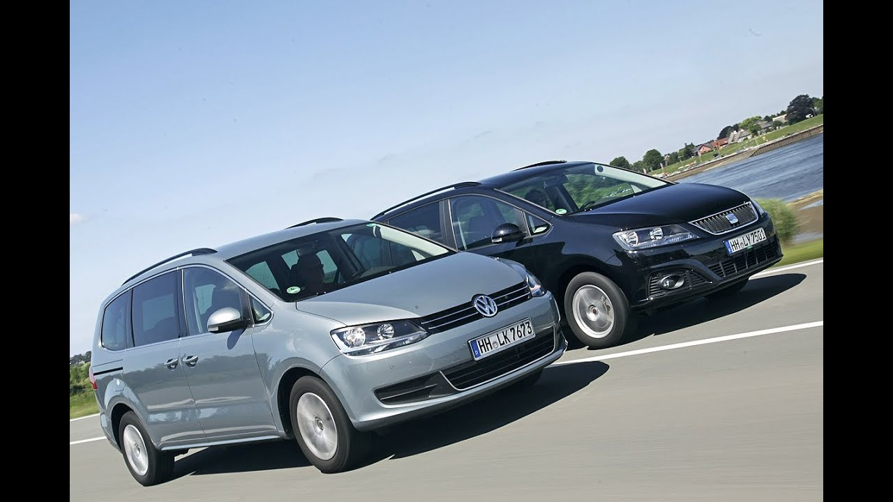 Seat Alhambra vs. VW Sharan - YouTube