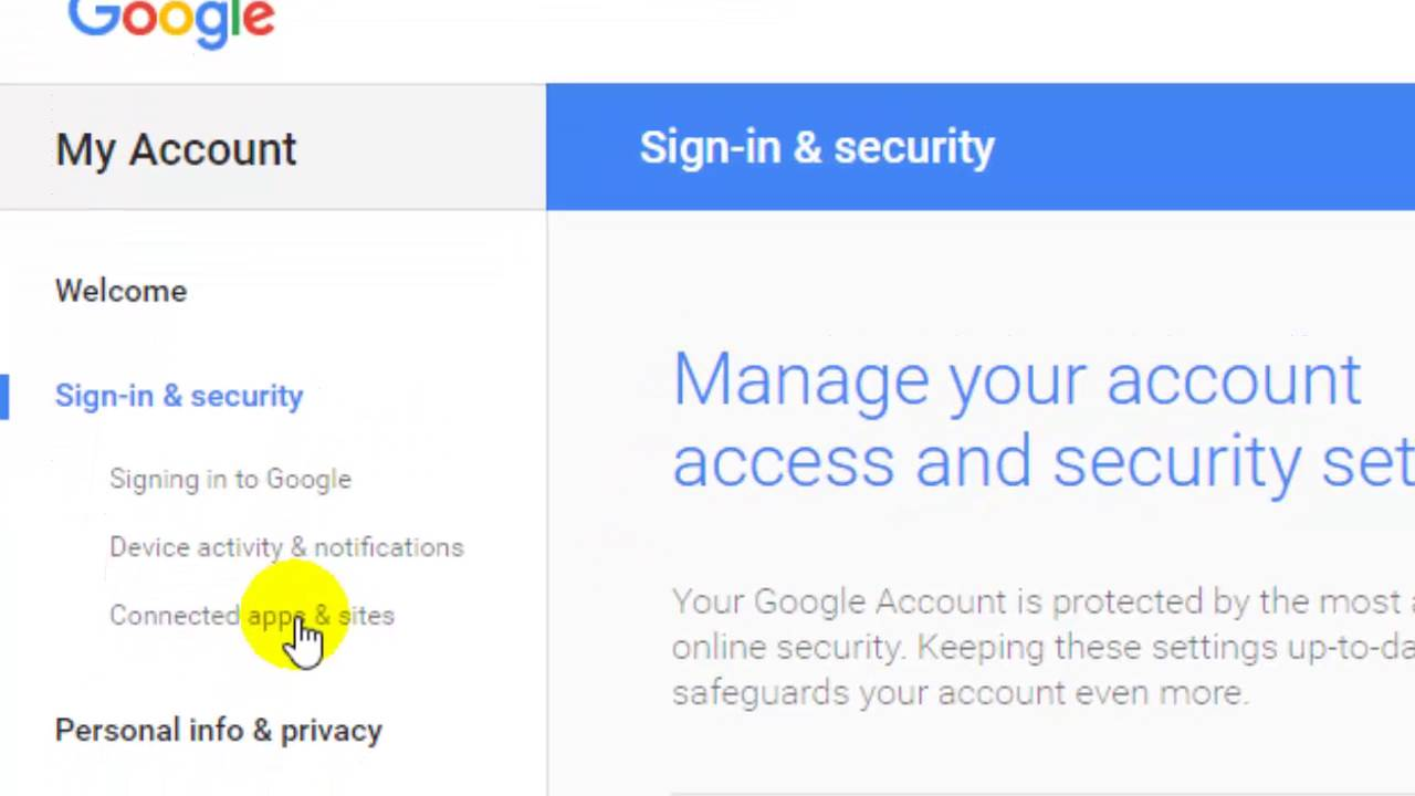 How to turn on access for less secure apps for Google gmail account