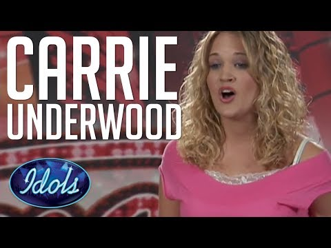 Carrie Underwood First Audition On American Idol Singing I Can't Make You Love Me | Idols Global