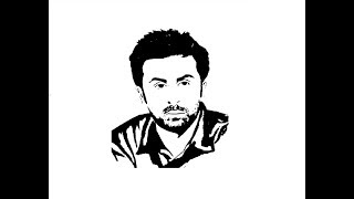 How to Draw Ranbir Kapoor face pencil drawing step by step