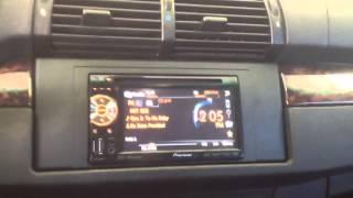BMW X5 E53 Double Din Touchscreen iPod iPhone Bluetooth Installed AL & EDS AUTOSOUND LA