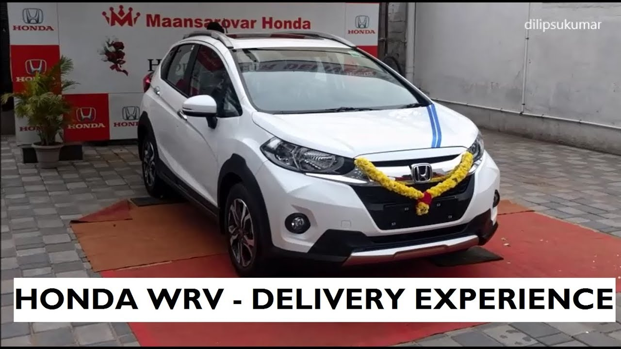 honda wrv  car delivery experience   white orchid pearl youtube