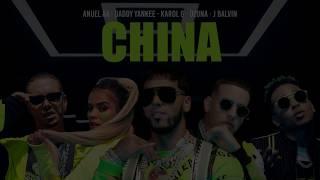 China - Anuel AA, Daddy Yankee, Karol G, Ozuna, J Balvin (Letra)