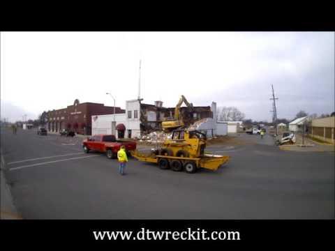 Demolition of Old Coalgate City Hall - Coalgate, OK