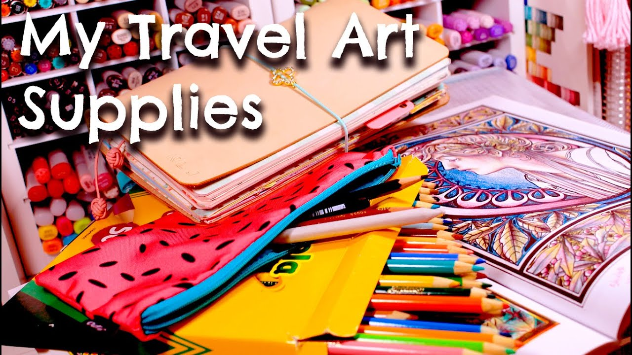 MY TRAVEL ART SUPPLIES - YouTube