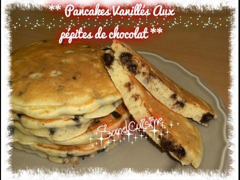**-pancakes-vanilles-aux-pepites-de-chocolat-**