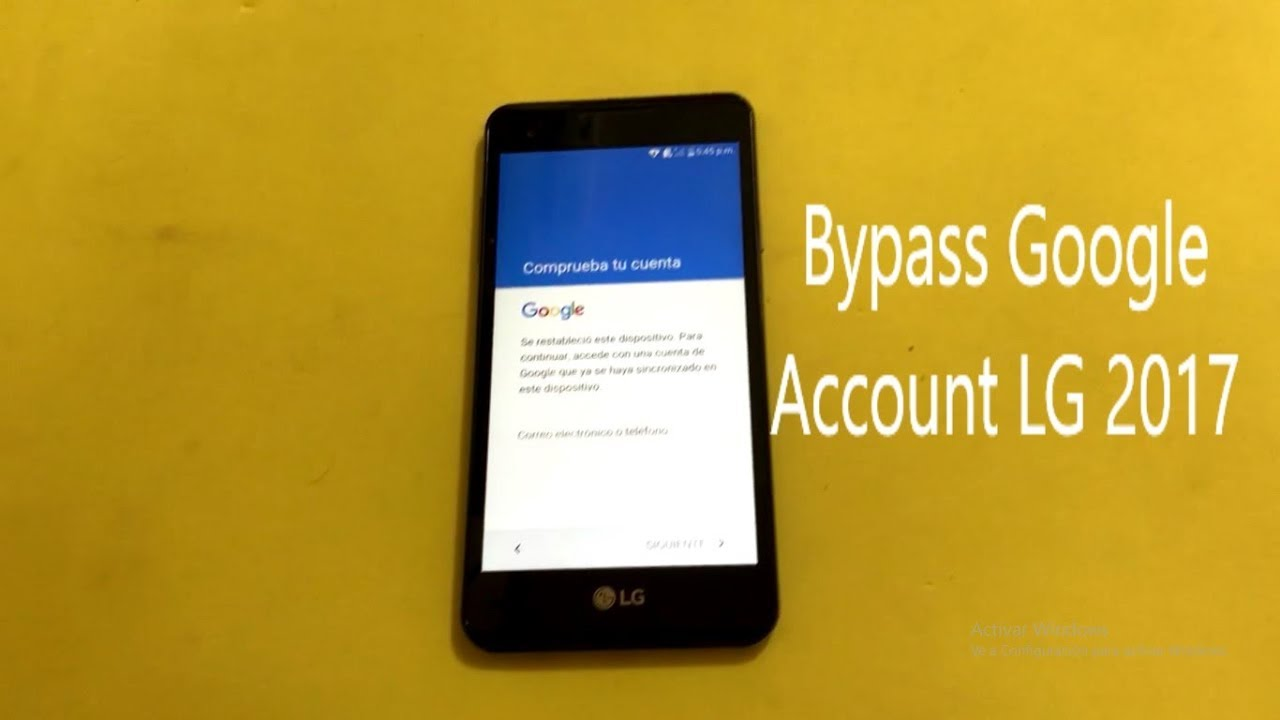How to bypass google account for LG All models!!