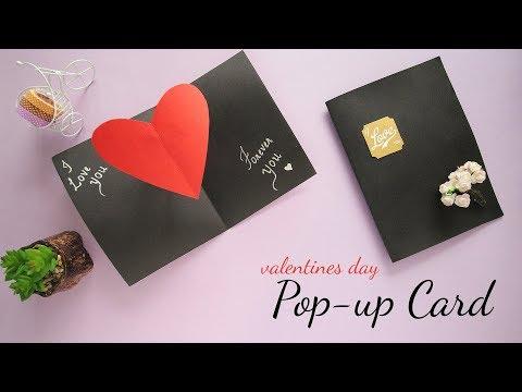 Valentines Day Pop-up Card |  Valentine Cards | Card Making