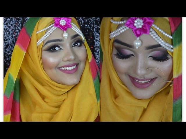 Asian Haldi/ Holud /Mehendi/ bridal/ Wedding Hijab Tutorial || with Raisa Naushin