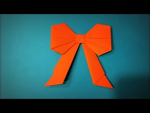Origami Bow | How to Make a Paper Bow Decoration for Gift DIY - Easy Origami Step by Step