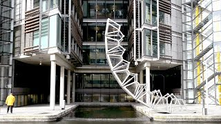 Watch This Robotic Footbridge Curl Up Into A Ball