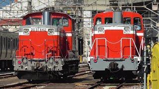 2020年11月9日 E257系 NA-05編成の疎開返却回送、DD51 842とDE11 1041による旧型客車6両の入換、EF64 1031が牽引するE235系 J-05編成 配給列車 JR高崎駅