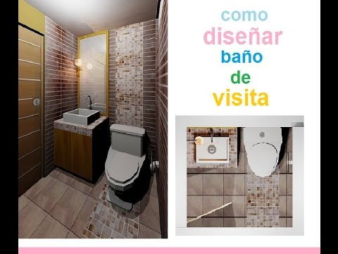 Dise o de ba o de visita ideas para decorar tu ba o for Ideas para un bano moderno