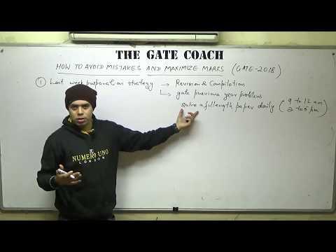 How to minimise mistakes & maximise marks in Gate Exam