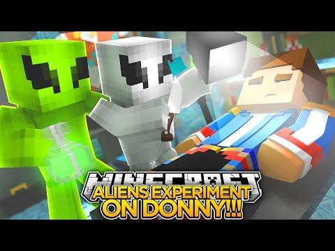 ALIENS EXPERIMENT ON LITTLE DONNY!! - Minecraft - Little Donny & Little Club Adventures.