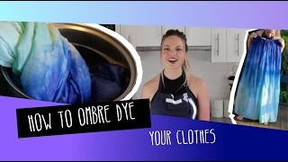 How to Ombre Dip Dye Silk Fabric At Home