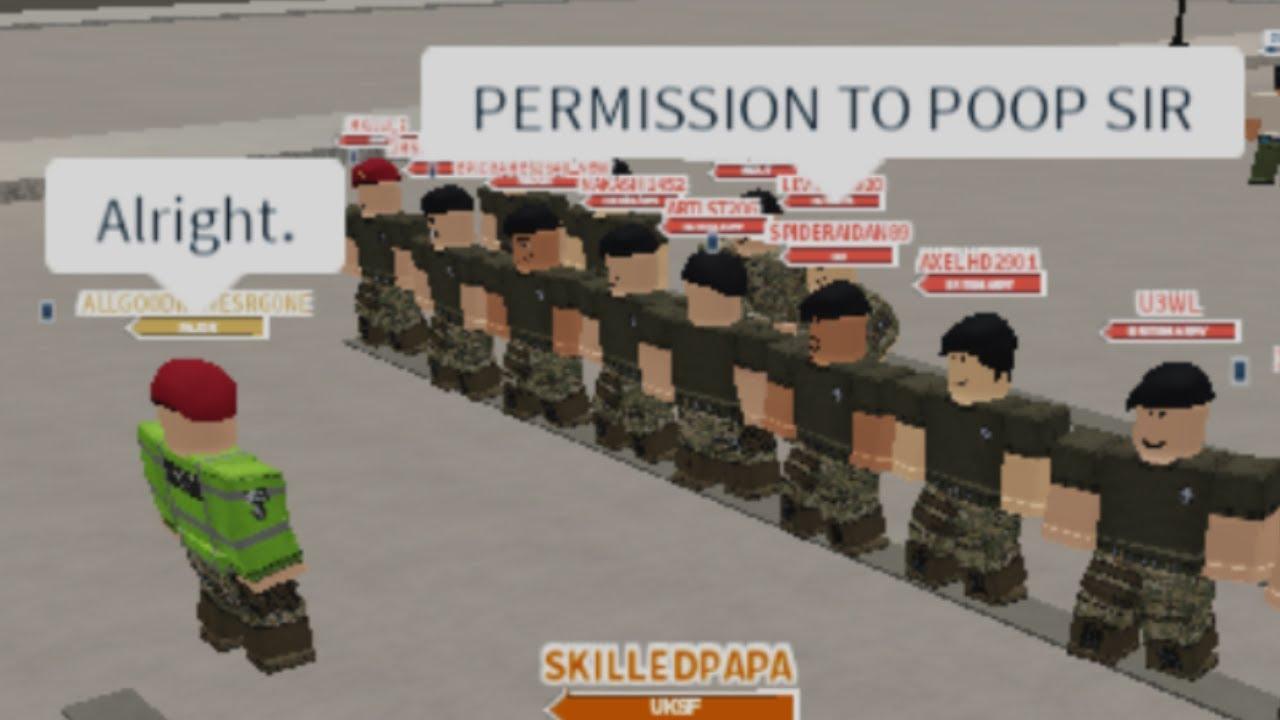 Uksf On Duty Ba Sandhurst Military Academy Roblox Youtube