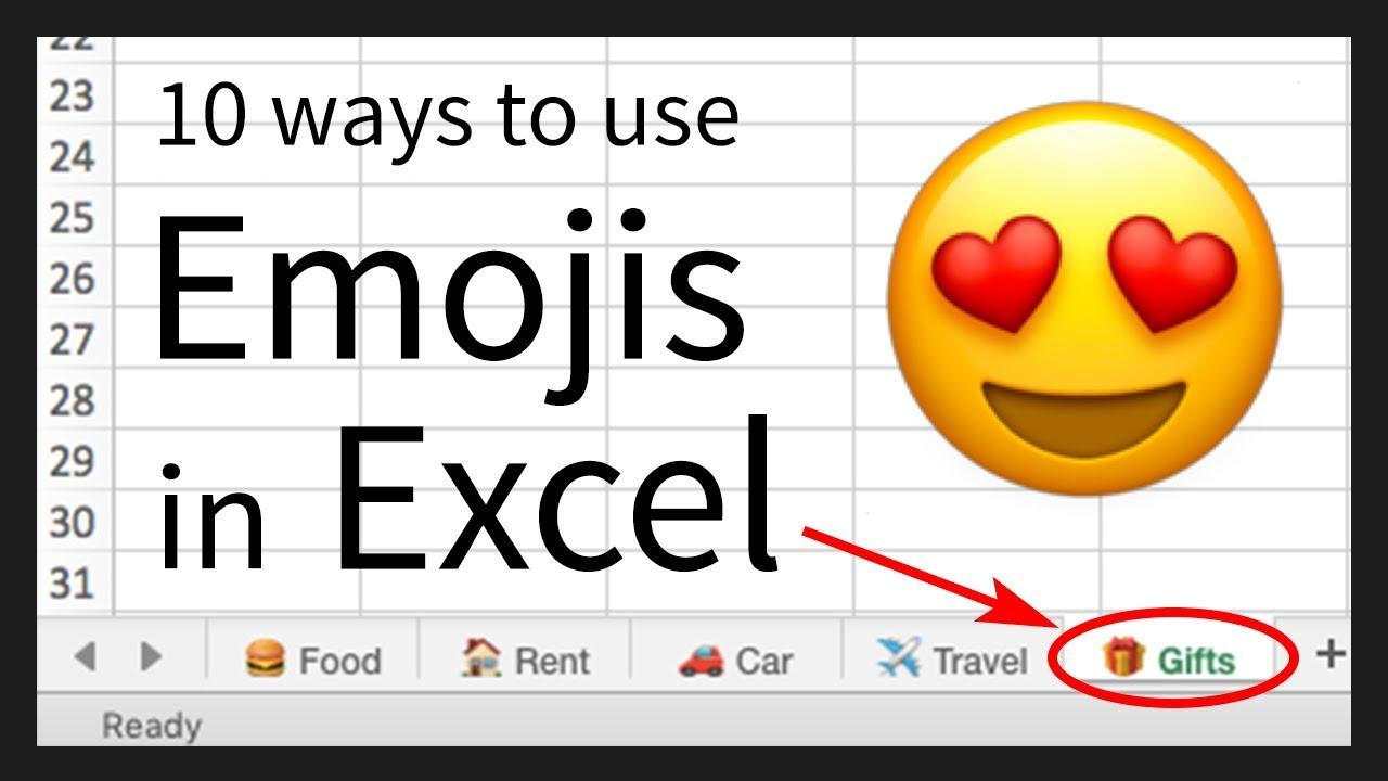 10 Ways to use Emojis in Excel 😍