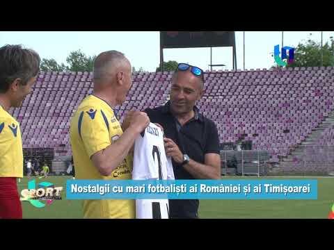 TeleU: Nostalgii cu mari fotbaliști ai României și ai Timișoarei