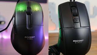 Roccat Kone Pro vs Roccat Burst Pro - Which lightweight mouse is better?