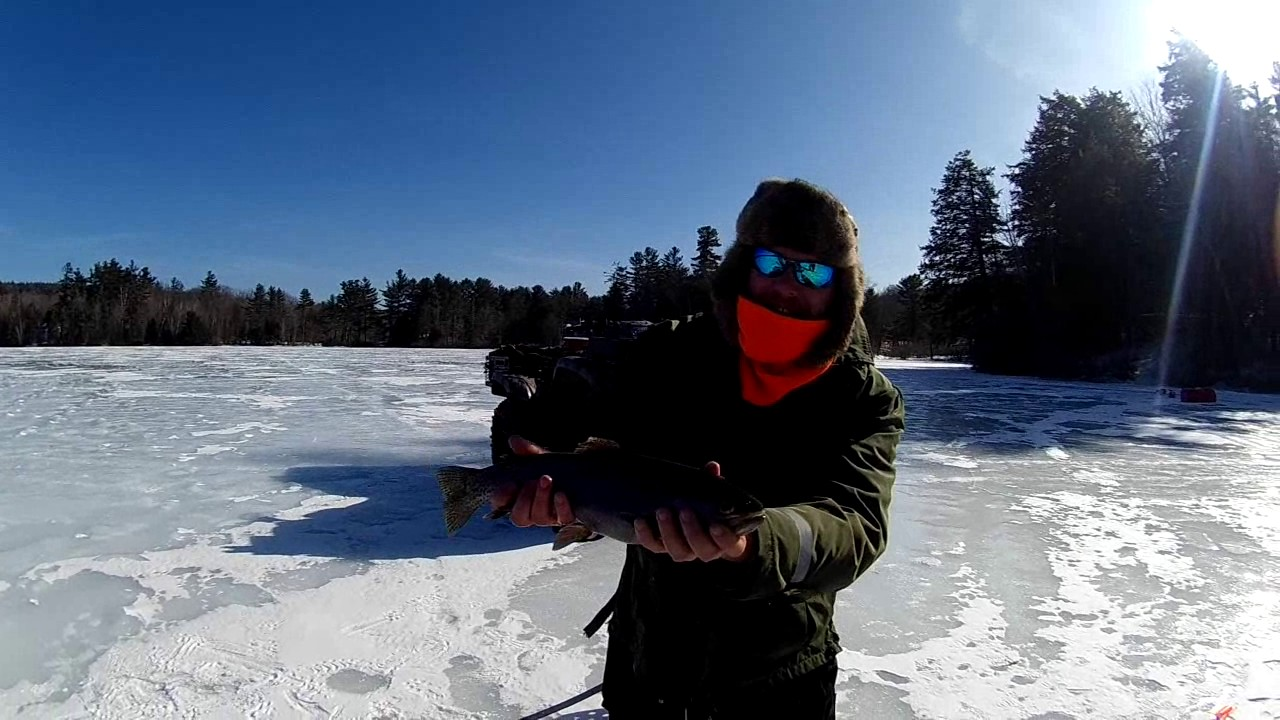 March ice fishing new hampshire rainbow trout bass for Ice fishing nh