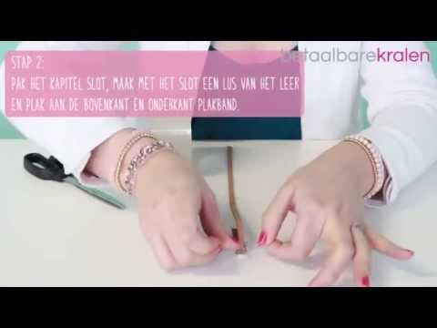 Sieraden maken: Hoe maak je een armband met kapitel slot en macramé draad? ♡ DIY